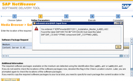 error label sap_cs:640